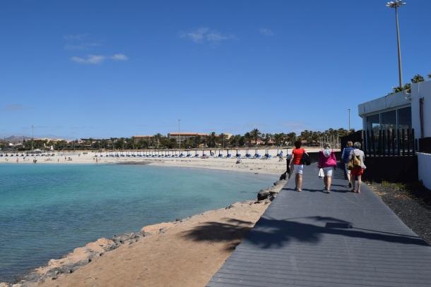 Pláž v Caleta de Fuste